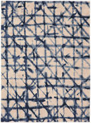 5and039 X 8and039 Karastan Machine Woven Area Rug Contact Indigo Antique White Periwinkle