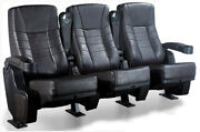 6 Real Movie Cinema Faux Leather Rocker Chairs Home Theater Seating Rocking Seat
