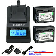 Kastar Battery Lcd Fast Charger For Canon Bp-718 Canon Vixia Hf R30 Hfr30 Camera