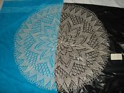 Vintage 80's Cepelia Poland Hand Crocheted Lace Round Tablecloth Table Cover 36