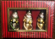 Waterford Holiday Heirlooms St. Nicholas Set Of 3 Ornaments 2008 New Sealed Box