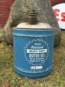 Vintage Vitalized Heavy Duty Motor Oil Montgomery Wards Gas Station 5 Gal Can