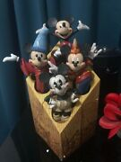 Rare Enesco Through The Years Mickey Mouse 85th Anniversary Edition.
