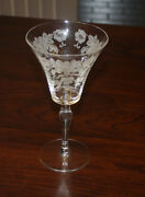 Set Of 3 Morgantown Picardy Richelieu Water Goblet Stems 7 Inches Etched Mint