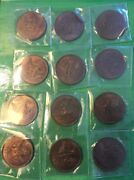 1932 Ireland Scarce Date Copper Farthings Red Brown Unc - Wholesale Lot 12 Coins