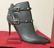 Valentino Rockstud Leather Booties, Sold Out In Stores