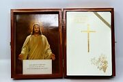 Holy Bible 1961 Memorial Edition Illustrated Local 8412 With Cedar Wood Box