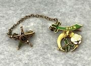 14kt Yellow Gold Masonic Daughters Of The Nile And Eastern Star Pin