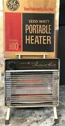 Vintage 1320w Ge General Electric Portable Radiant Heater Model H10 Works In Box