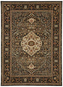 12and039 X 15and039 Karastan Machine Woven Area Rug Petra Charcoal Taupe Gold Cream