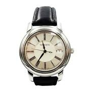 And Co. Atlas Stainless Steel Leather Band Watch