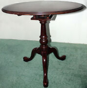 Ethan Allen Collector Classics Wooden Round Coffee Table