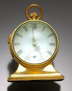 Rare Quarter Hour Repeater Crystal Ball Table Clock With Fancy Dial Pocket Watch