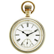 Antique Waltham Pocket Watch Ca1895   7 Jewel, 18 Size Coin Silver Case