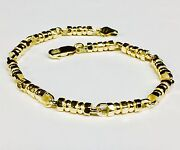 14k Solid Yellow Gold Menand039s Fashion Link Chain/bracelet 9.5 4.5 Mm 28 Grams