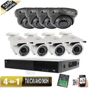8ch All-in-1 Viedo Dvr 5mp 4-in-1 36ir Leds Dwdr Security Camera Wifi Ip66