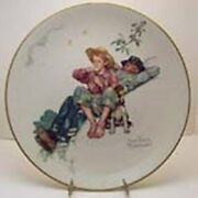 1974 Norman Rockwell Four Seasons Plates Limited Edition Gorham Set Of 4 Boxes