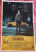 Martin Scorsese Signed Poster Taxi Driver Autographed Movie Poster Robert Deniro