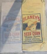 6 Vintage Old Corn Seed Bag Bags Lot Blaney's Blaney Tracy's Old Madison , Wi