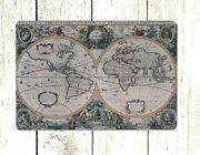 Reproductions Wholesale 1630 World Map Tin Metal Sign