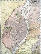 1895 Map Of St. Louis Rand Mcnally And Co Color Litho Engraving Large Doublepage