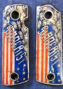 1911 Sinnerist Flag Mother Of Pearl Inlay Grips Full Size Nos Fast Usa Shipper