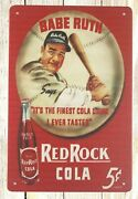 House Home Decor Babe Ruth Red Rock Cola Tin Metal Sign