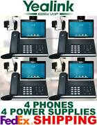 Yealink Sip-t58v Smart Video/media Ip 4 Phones Wifi Bluetooth Android 4 Ac Ps