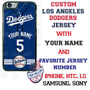 La Dodgers Jersey Phone Case Cover With Name And No. For Iphone Samsung Moto Etc