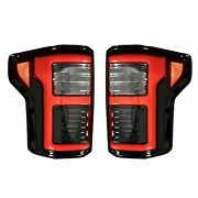 Recon 264268ledbk Ford F150 15-17 And Ford Raptor 17-19 Smoked Lens Tail Lights