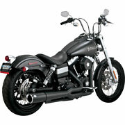 Vance And Hines Black Pro Pipe Exhaust For 2012-2017 Harley Dyna Models