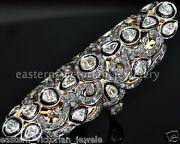 Vintage 3.35cts Genuine Rose Antique Cut Diamond Silver Full Finger Ring Jewelry