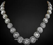 Vintage 11.28cts Genuine Rose Antique Cut Diamond Silver String Necklace Jewelry