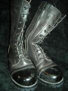 Vtg Mens 8 Nicks Custom Tall Army Military Leather Jump Combat Lace Zip Boots