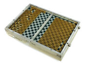 Hewlett Packard Diagnostic Fixture With Gold Pins - Vintage Us Navy Board 11453b