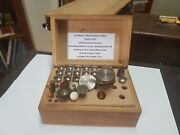 13x 8mm Watchmakerand039s Paulson Lathe Collets Andldquosizes 7-50andrdquo And Timber Storage Case