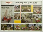 Vintage 1960s Toro Mowers Tillers Tractors Election Chart Double-sided Ad Poster