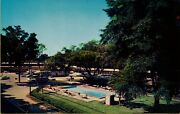 Air Aerial View Pool Area Tallahassee Motor Hotel And Dining Room Fl Postcard C1