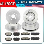 Front And Rear Brake Rotors And Pads For Lexus Es350 Toyota Avalon Toyota Camry