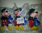 Mickey Mouse Plush With Dreidel 3 Total In Packages Disney