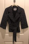 Classiques Entier Atelier Navy Belted Blazer- 3/4 Length Sleeve- Size Sm