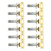 12 Privacy Door Knob Latch Sets Reversible Gold Pvd 2 3/8
