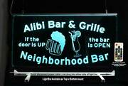 Personalized Man Cave Sign Beer Mug Pub Sign Personalized Lighted Sign