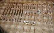 44pc Westmorland George And Martha Sterling Silver Ladle Ice Spoon Forks Knives
