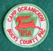 Vintage Boy Scout Camp - Camp Ockanickon Patch - Rolled Edge - Bucks County, Pa