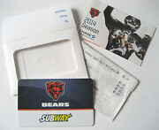 Any Subway Sandwich Chicago Bears Re-load 5 Gift Card Gr8 4 Football Collector