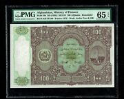 Afghanistan   Ministry Of Finance   100 Afghanis   1936   P-20r   Pmg-65 Epq
