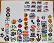 Lot Of 67 Vintage And New Patches Space Scouts Products Racing Pets Music