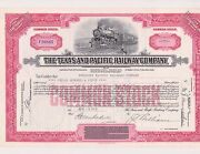 [make Offer] Texas And Pacific Railway Common Stock Certificate Free Shipping