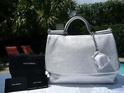 Dolce And Gabbana Miss Sicily Softdeer Skin Soft Tote-2,345-sold Out-rare-nwt